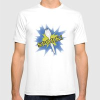 Spork! Mens Fitted Tee White SMALL