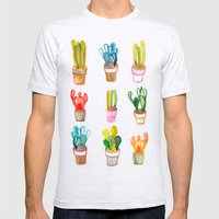 Cactus Collection Mens Fitted Tee Ash Grey SMALL