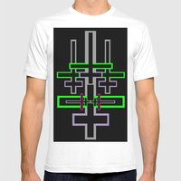 DOUBLE CROSS Mens Fitted Tee White SMALL