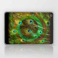 The Peacock Dream In Gold Laptop & iPad Skin
