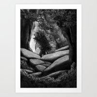 Follow The Woodcutter Art Print