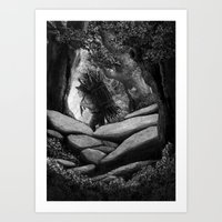 Follow The Woodcutter Art Print