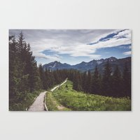 Greetings from the trail Canvas Print