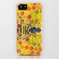 Bee & Honeycomb iPhone (5, 5s) Slim Case