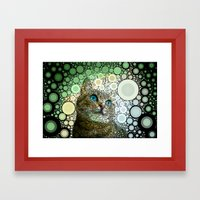 Cat Dreamy Framed Art Print