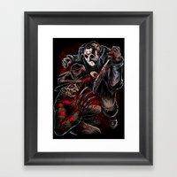 Freddy vs Jason Framed Art Print