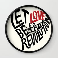 Let Love Be The Revoluti… Wall Clock