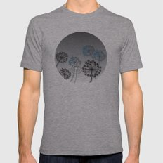 Mysterious Flowers Mens Fitted Tee Athletic Grey SMALL