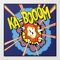 Ka Boom Pop Art Canvas Print