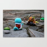 A Battle. Canvas Print