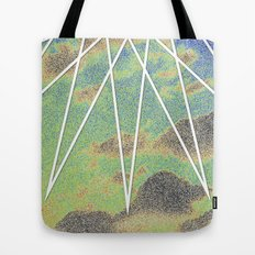 Solarized Burst Tote Bag