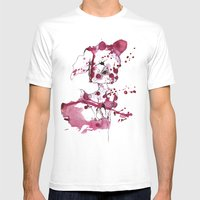 Spotted Kitty Fawn Mens Fitted Tee White SMALL