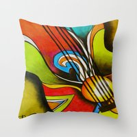 Untitled (Guitar)  Throw Pillow
