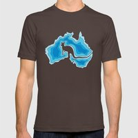 Australia Mens Fitted Tee Brown SMALL