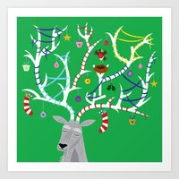 The Reindeer And The Rob… Art Print