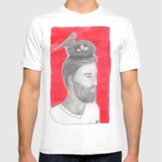 Nest-head Mens Fitted Tee SMALL White