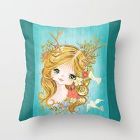 Lovely Lady Of The Woodlands Throw Pillow