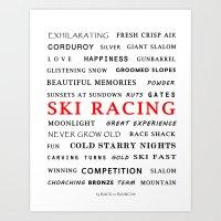 Ski Racing Art Print