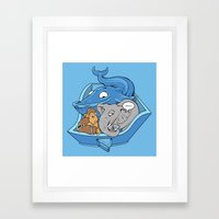 The Blue Whale in the Room Framed Art Print