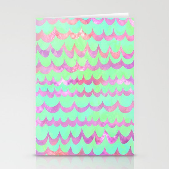 WAVES - Pastel Stationery Card
