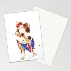LONDON - Jack Russell Art - Union Jack Stationery Cards