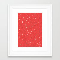 Coral Hearts Framed Art Print