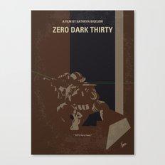 No692 My Zero Dark Thirty minimal movie poster Canvas Print