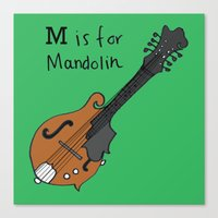 M Is For Mandolin Canvas Print