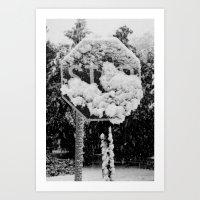 Snowy Halloween 1 Art Print