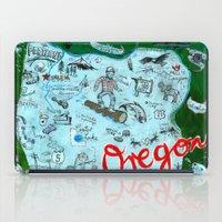 Map Of Oregon iPad Case