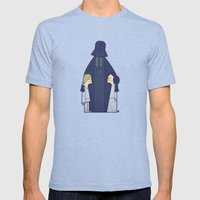 May the Love be with you Mens Fitted Tee Tri-Blue SMALL