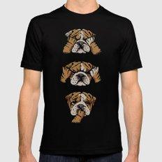 Noevil English Bulldog SMALL Mens Fitted Tee Black
