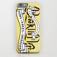 iPhone & iPod Case featuring Brooklyn Tribute - White version - by Tobia Crivellari