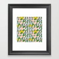 Whimsical Mountains Framed Art Print