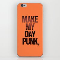 Make my day punk iPhone & iPod Skin