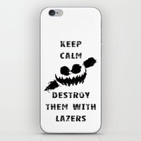 Keep Calm and Destroy Them With Lazers iPhone & iPod Skin