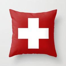 Swiss Cross Throw Pillow