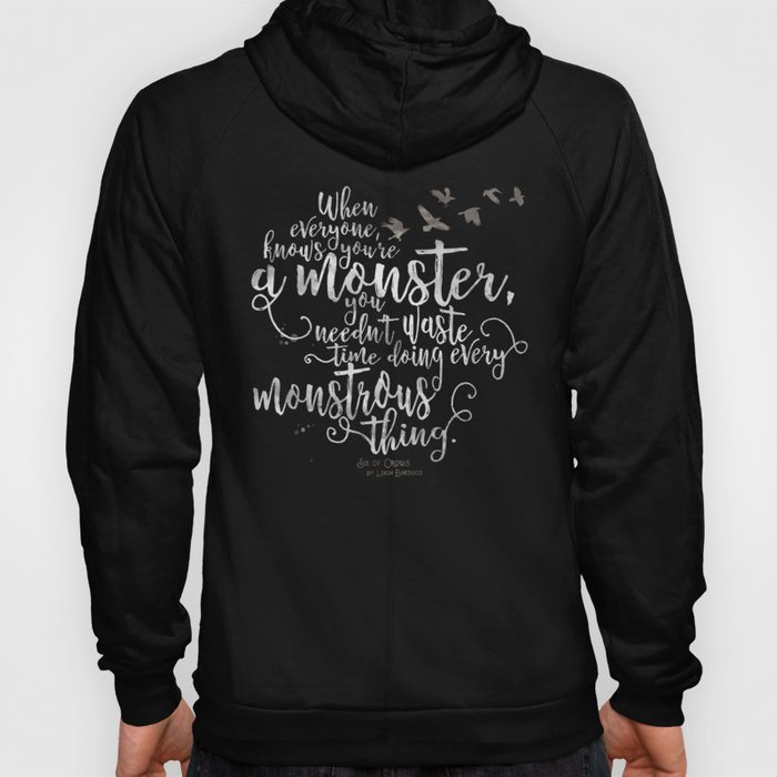 Six of Crows - Monster - Black Hoody