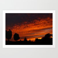 Castle Sunset Art Print