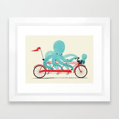 My Red Bike Framed Art Print