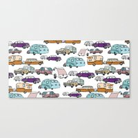 Cars And Campers Canvas Print
