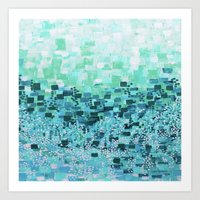 :: Sea Glass Compote :: Art Print