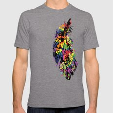 Colorful feather Mens Fitted Tee Tri-Grey SMALL