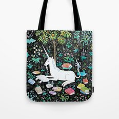 The Unicorn is Reading Tote Bag