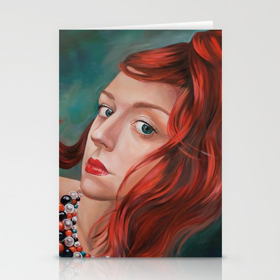 Red-Haired Stationery Card