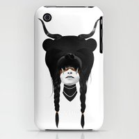 iPhone 3Gs & iPhone 3G Cases featuring Bear Warrior by Ruben Ireland