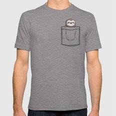 My Sleepy Pet Mens Fitted Tee Tri-Grey SMALL
