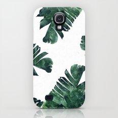 Banana Leaf Watercolor Pattern #society6 Galaxy S4 Slim Case