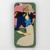 Hat Girl 3 iPhone & iPod Skin