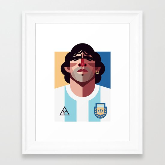 DM10   La Albiceleste Framed Art Print